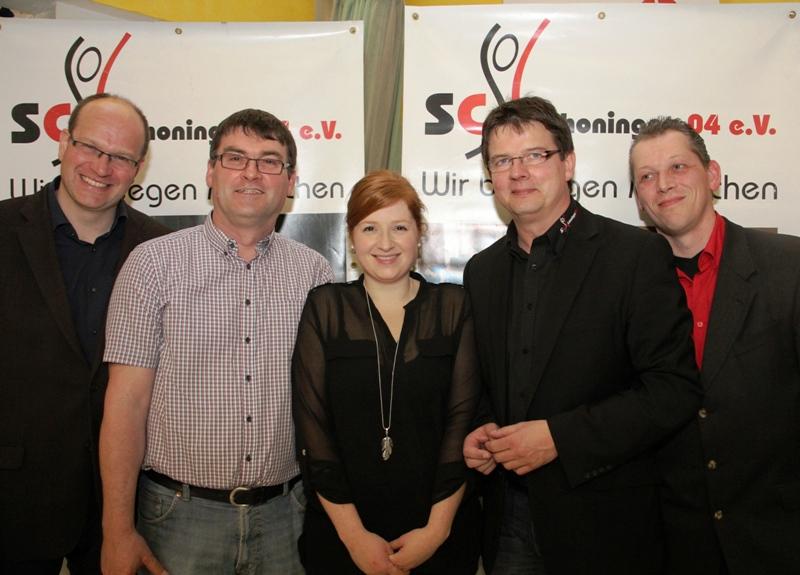 ein starkes Team - Von links: Stephan Sielhorst, Frank Lessner-Schminke, Kristin Saloga, Jörg Grabowsky und MIchael Holz.